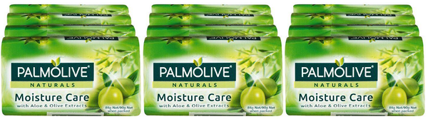 Palmolive Naturals Moisture Care Aloe & Olive, 4 ct. 360g (Pack of 3)
