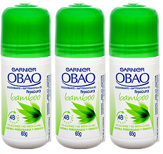 Garnier Obao for Women Bamboo Deodorant, 2.3 oz. (Pack of 3)