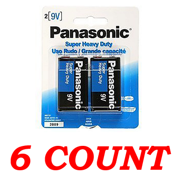 Panasonic C Super Heavy Duty Power Batteries, 6 ct.