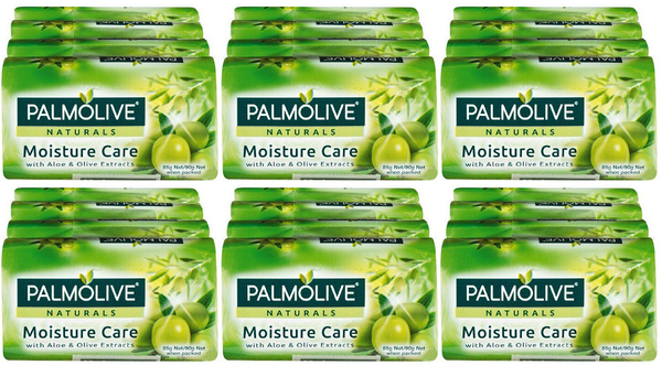 Palmolive Naturals Moisture Care Aloe & Olive, 4 ct. 360g (Pack of 6)