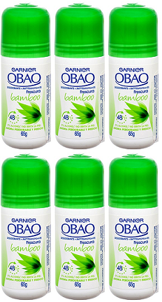 Garnier Obao for Women Bamboo Deodorant, 2.3 oz. (Pack of 6)