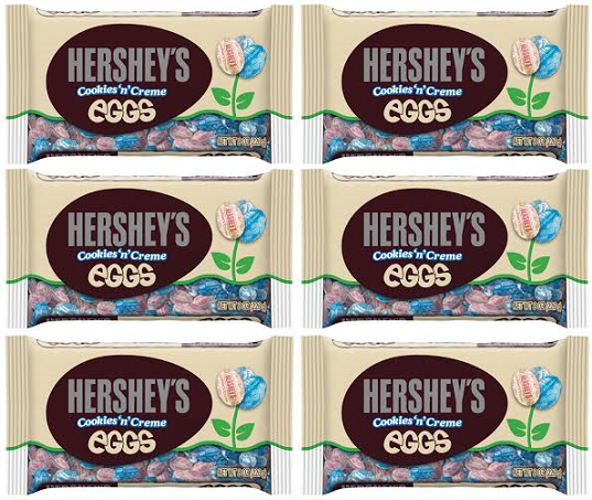 Hershey's Cookies 'n' Creme Eggs, 8 oz (Pack of 6)