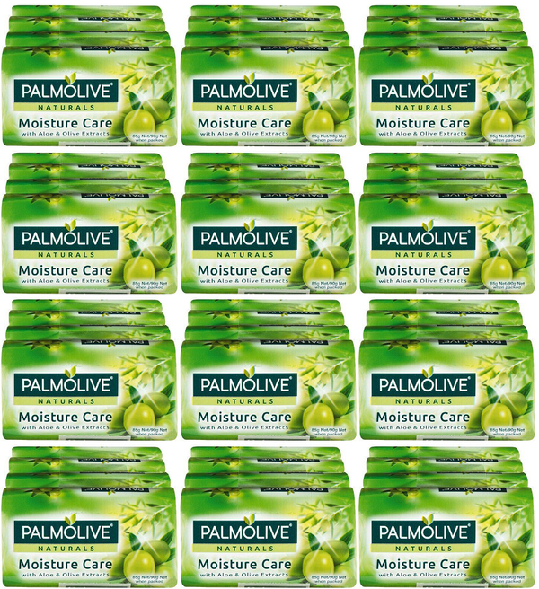 Palmolive Naturals Moisture Care Aloe & Olive, 4 ct. 360g (Pack of 12)