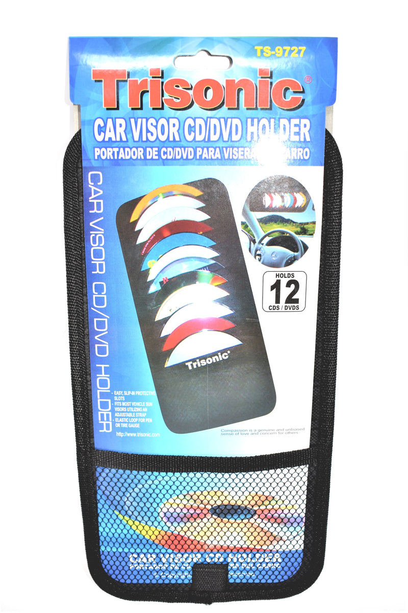 Car Visor CD/DVD Holder, Holds 12