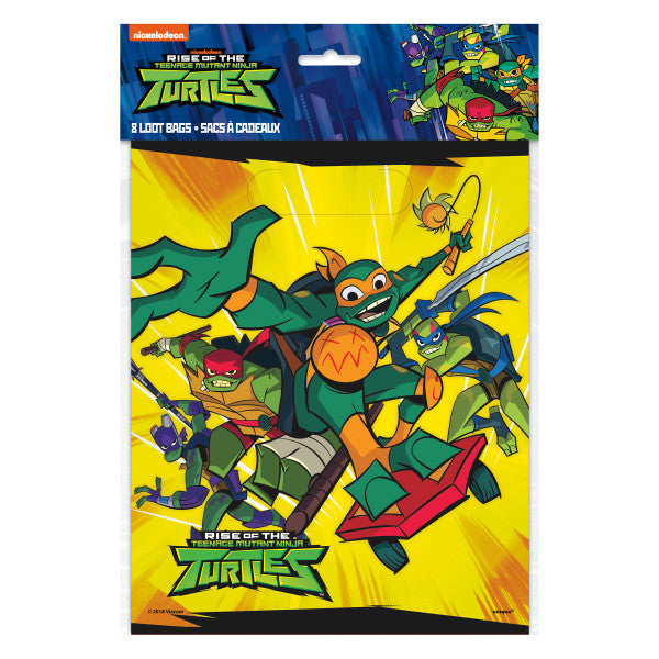 Rise of the TMNT Loot Bags, 8ct