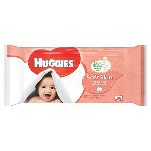 Huggies Baby Wipes Soft Skin, 56 Wipes
