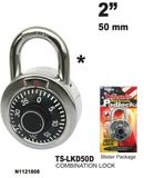 High Security Combination Lock, 50 mm