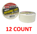 "ProTouch White Masking Tape, 1.89"" x 54.68 yards, 12-ct."