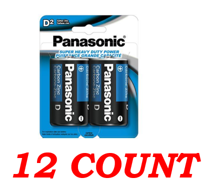 Panasonic D Super Heavy Duty Power Batteries, 12 ct.