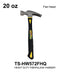 Heavy Duty Drop Forged Iron Fiberglass Hammer, 20 oz.
