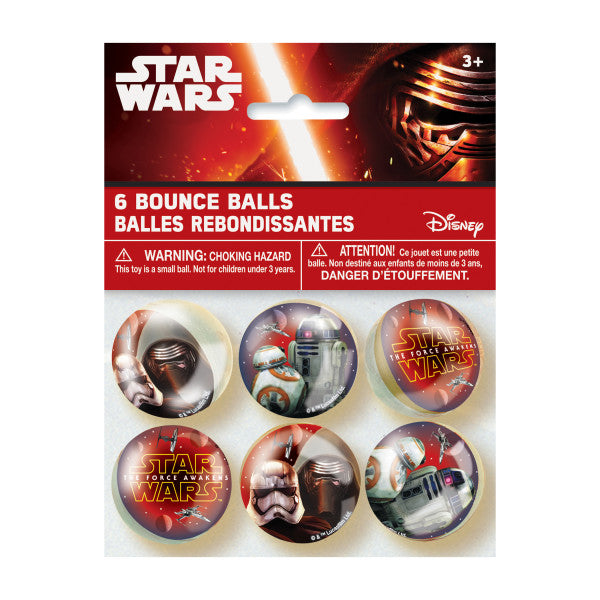 Star Wars Episode VII Bounce Balls, 6ct