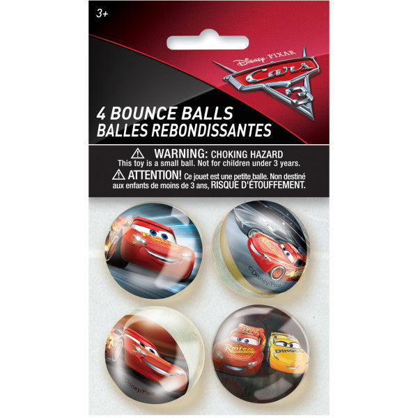 Disney Cars 3 Movie Bounce Balls, 4ct