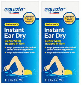Equate Swimmer's Instant Ear Dry Isopropyl Alcohol 95% 1 oz. EXP 5/21 Pack of 2