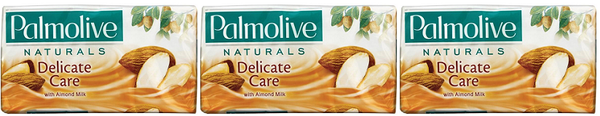 Palmolive Naturals Delicate Care with Almond Milk, 4 ct. 360g (Pack of 3)