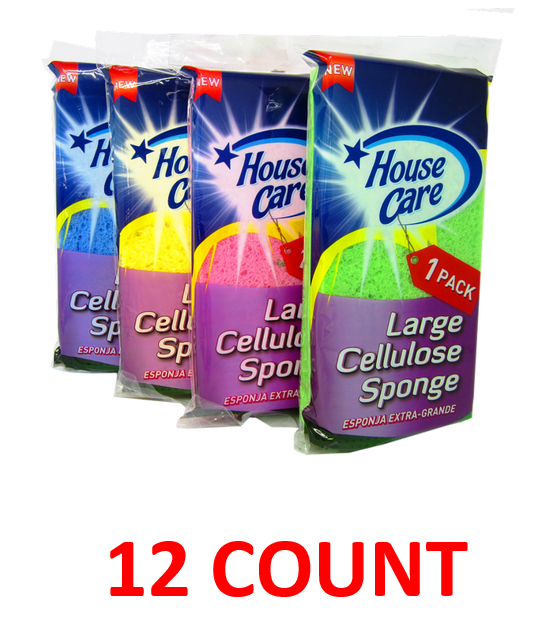 Clean House Large Cellular Sponge, 12-ct