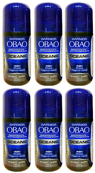 Garnier Obao for Women Oceanic Deodorant, 2.3 oz. (Pack of 6)