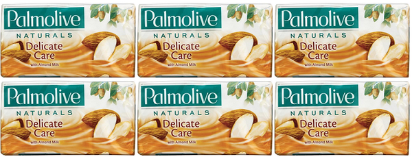 Palmolive Naturals Delicate Care with Almond Milk, 4 ct. 360g (Pack of 6)