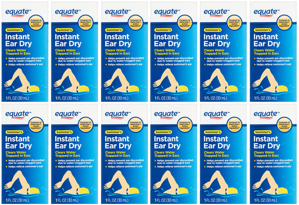 Equate Swimmer's Instant Ear Dry Isopropyl Alcohol 95% 1 oz. EXP 5/21 Pack of 12