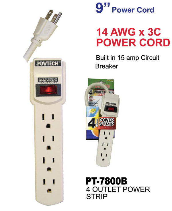 4 Outlet Power Strip Surge Protector