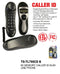 Slim Line Phone With Memory Caller ID, Black