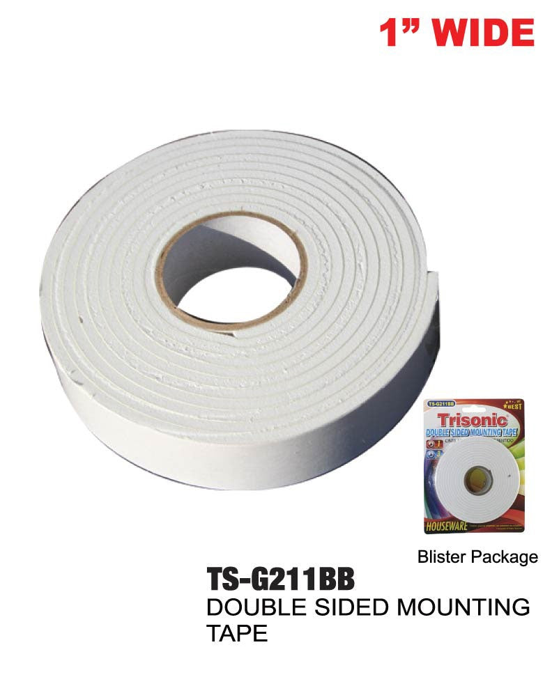 "Double Sided Mounting Tape, 1"" x 3 yards"