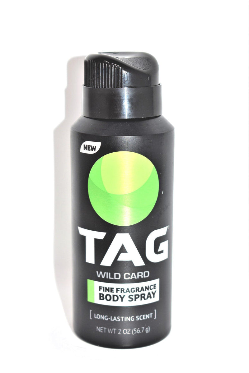 Tag Wild Card Fine Fragrance Body Spray Deodorant Spray, 2 oz.