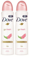 Dove GO Fresh Pomegranate & Lemon Verbena Antiperspirant, 150ml (Pack of 2)