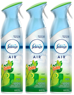 Febreze AIR Original Gain Scent Air Freshener, 8.8oz (Pack of 3)