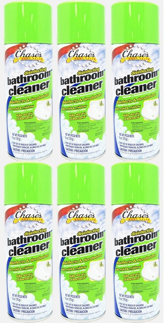 Chase's Home Value Disinfecting Bathroom Cleaner, 6 oz. (Pack of 6)