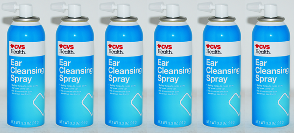 CVS Health Ear Cleansing Spray, 3.3 oz (Pack of 6)