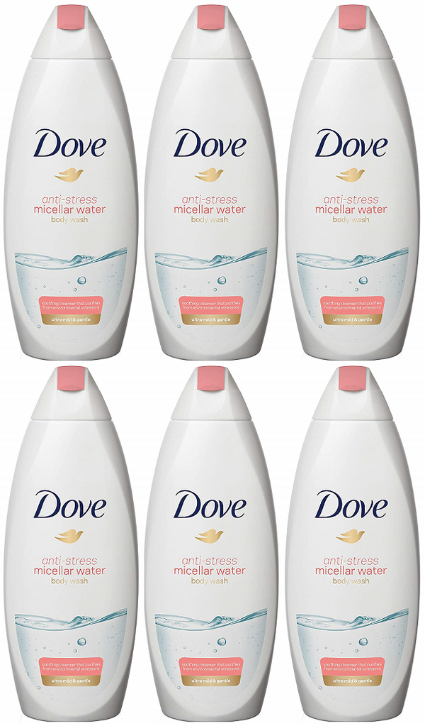 Dove Anti-Stress Micellar Water Shower Gel, 500ml (Pack of 6)