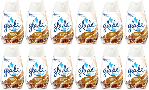 Glade Solid Air Freshener Cashmere Woods, 6 oz (Pack of 12)