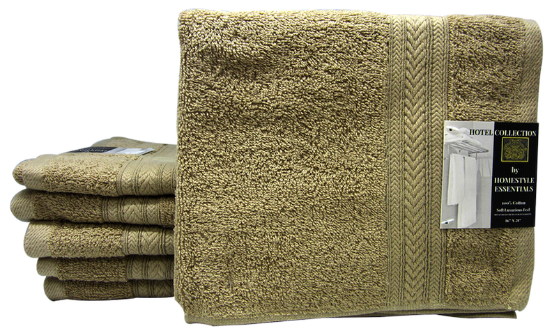 "Hotel Collection Wash Cloth Soft Luxurious Feel Taupe, 16""x 28"", 1-ct"