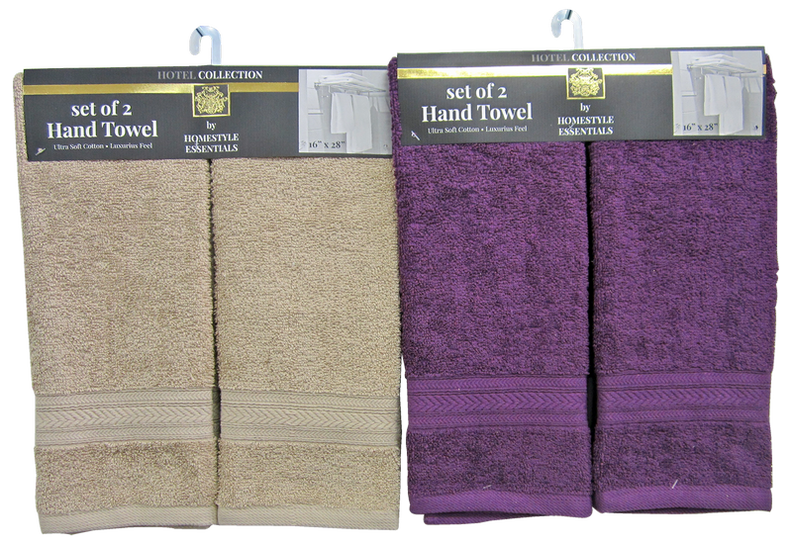 "Hotel Collection by Homestyle Essentials Hand Towel, 16"" x 28"", 2 ct."