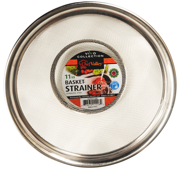 "11"" Basket Strainer Stainless Steel Vivo Collection"