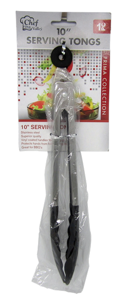 "10"" Serving Tongs Prima Collection"