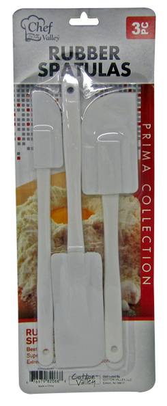 Rubber Spatulas Prima Collection, 3-ct.