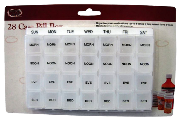 First Aid 28 Case Pill Box, 1-ct.