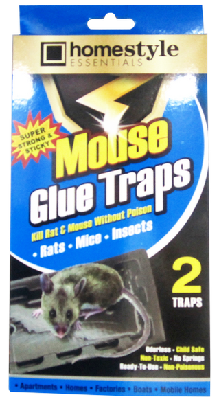 Homestyle Essentials Super Strong & Sticky Mouse Glue Traps, 2-ct.