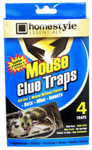 Homestyle Essentials Super Strong & Sticky Mouse Glue Traps, 4-ct.