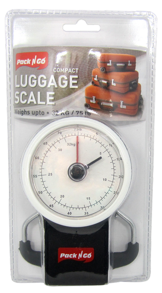 Pack N Go Compact Luggage Scale, 75 lbs. Capacity, 1-ct.