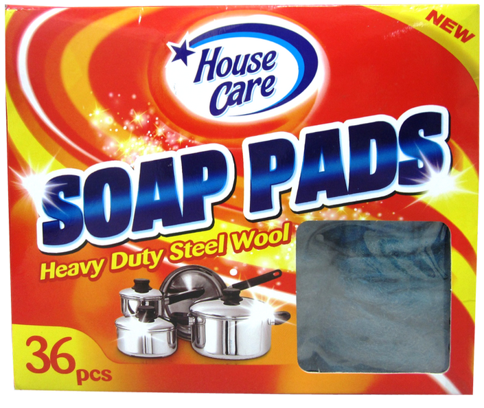 House Care Heavy Duty Soap Pads Steelwool, 36-ct