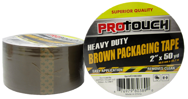 "ProTouch Heavy Duty Brown Packaging Tape, 2"" x 50 yards, 1-ct."