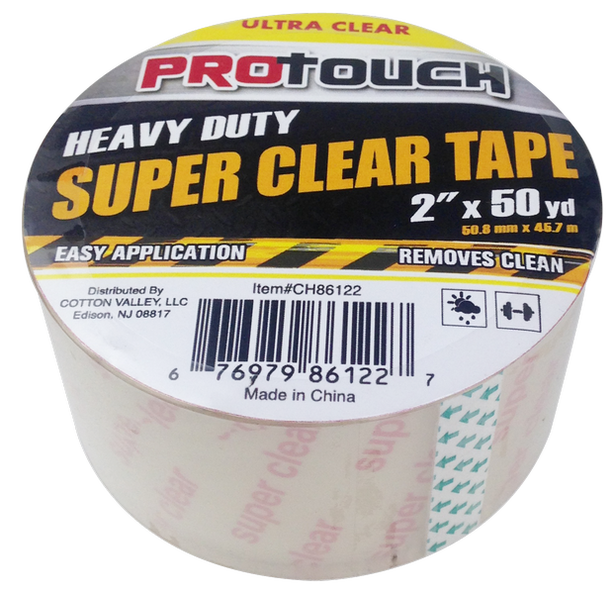 "ProTouch Heavy Duty Super Clear Tape, 2"" x 50 yards, 1-ct."