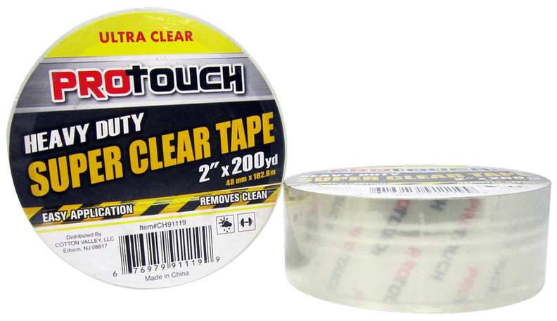 "ProTouch Heavy Duty Super Clear Tape, 2"" x 200 yards, 1 ct."