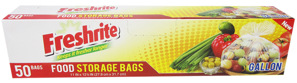 Freshrite Gallon Size Food Storage Bags, 50 ct.
