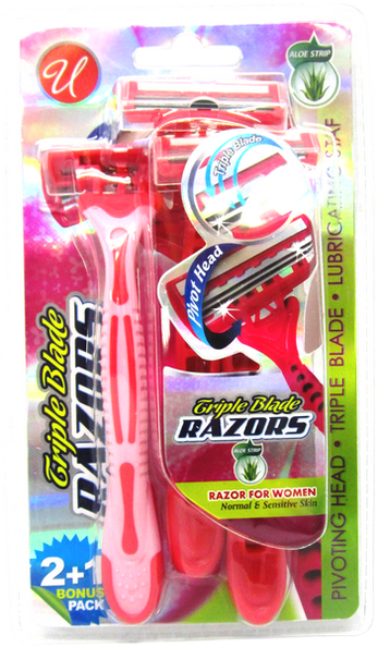 Women Triple Blade Razors For Normal & Sensitive Skin, 3 ct.