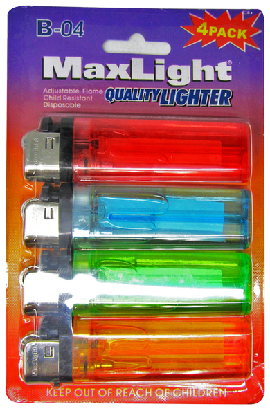 MaxLight Quality Lighter, 4-ct.