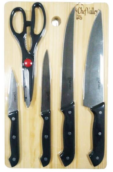 Cutlery Set With Cutting Board Set, 6-ct.