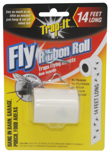Trap-It Fly Ribbon Roll Insect Trap, 14 ft.
